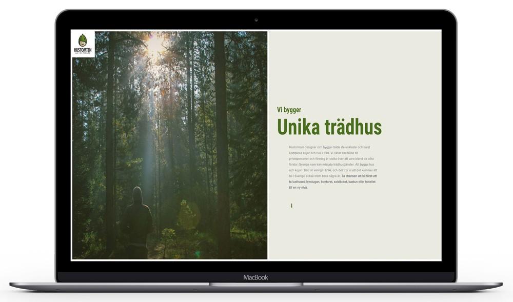 Hemsida för tradkoja.se - Trädkojor och trädhus